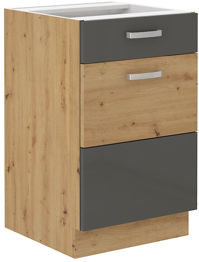 Unterschrank 50 cm mit Schublade ARTISAN Grau HG