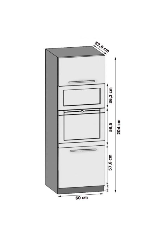 Hochschrank für Backofen und Mikrowelle