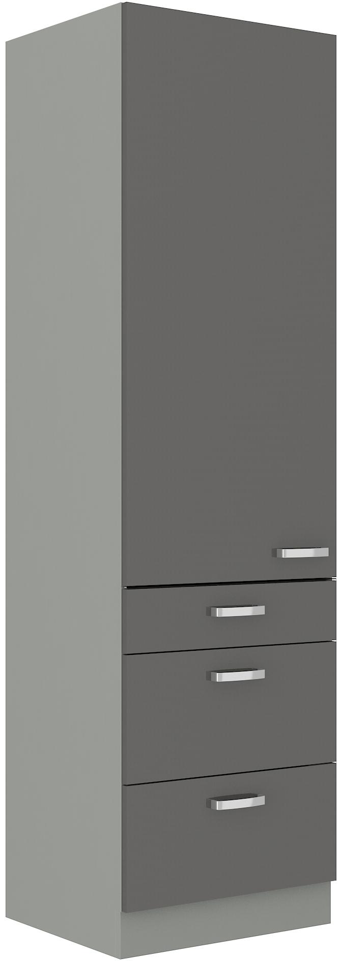 Hochschrank 60 cm / 210 cm mit Schubladen Grey