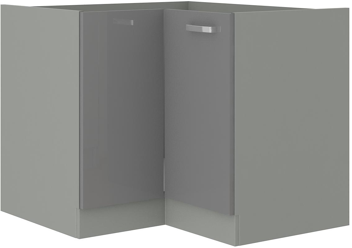Eckunterschrank 90x90 cm Grey