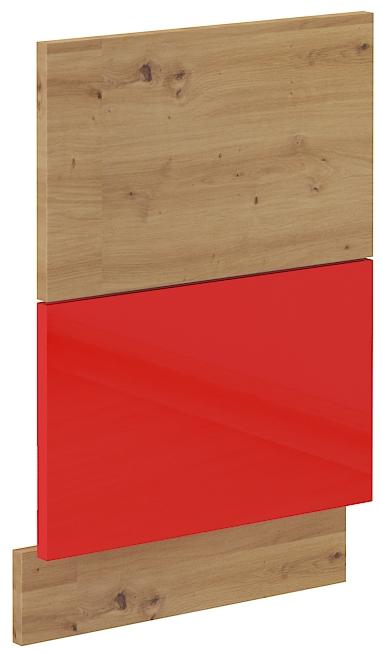 Geschirrspülerfront 45 cm Teilintegrierbar ARTISAN Rot HG