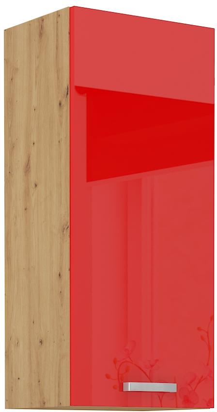 Oberschrank 40 cm / 90  cm ARTISAN Rot HG