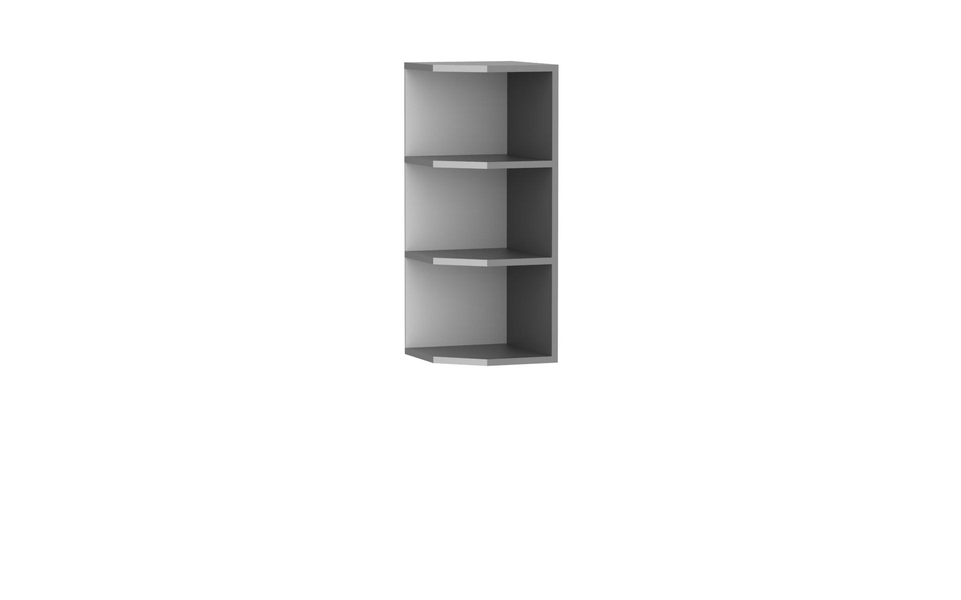 Oberer Abschlussschrank 30 cm / 72 cm Paula Grau