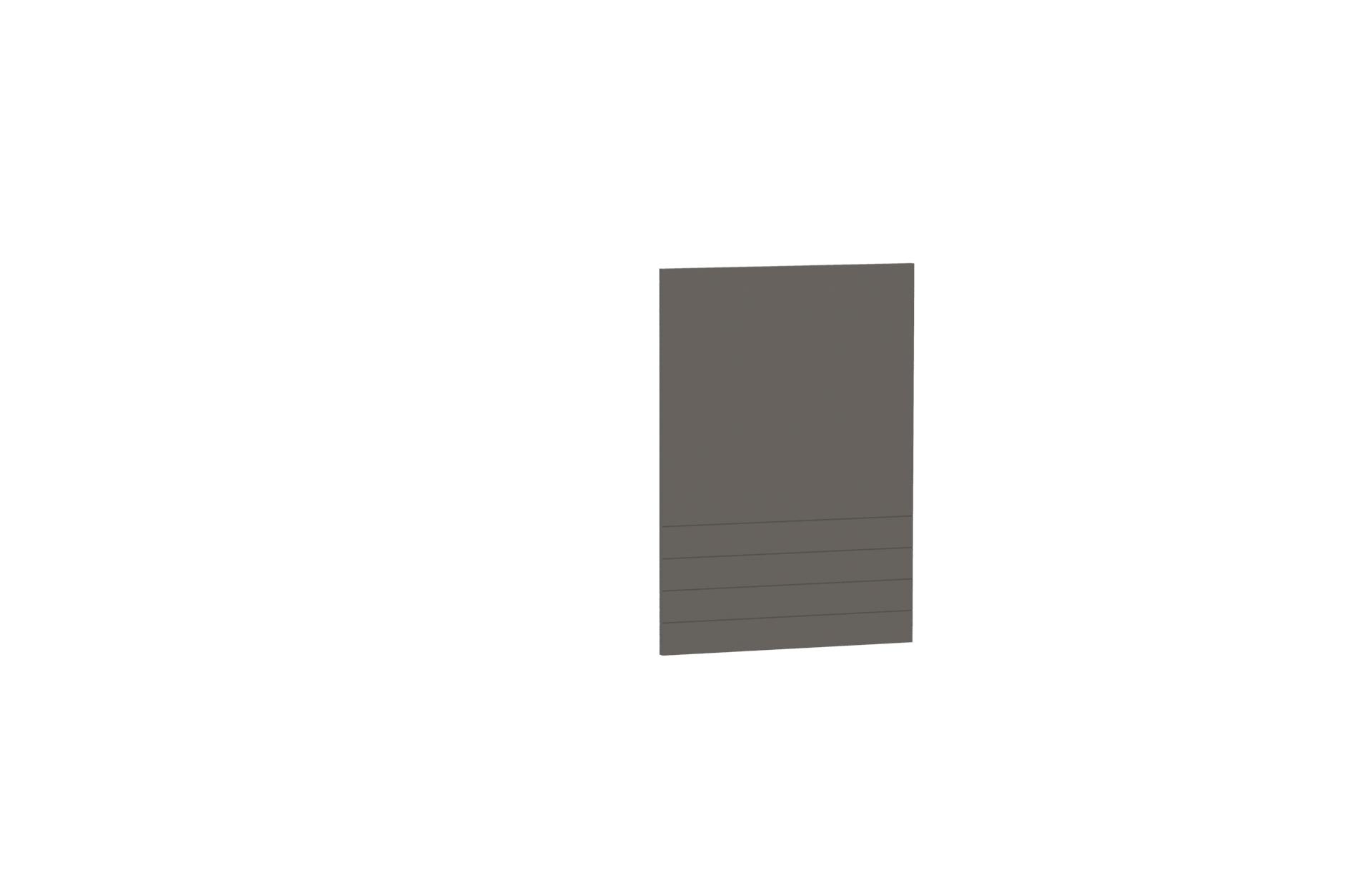 Geschirrspülerfront 60 cm Teilintegrierbar Paula Grau