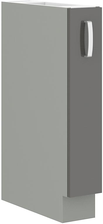 Unterschrank 15 cm Vorratsauszug Grey