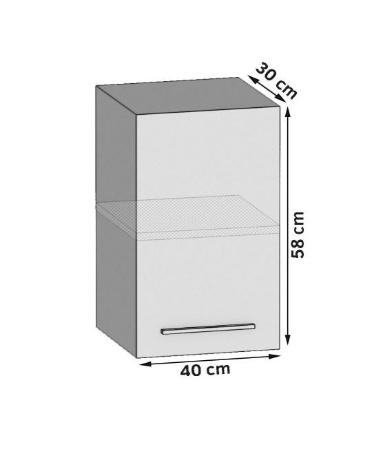 Oberschrank 40 cm mit 1 Tür