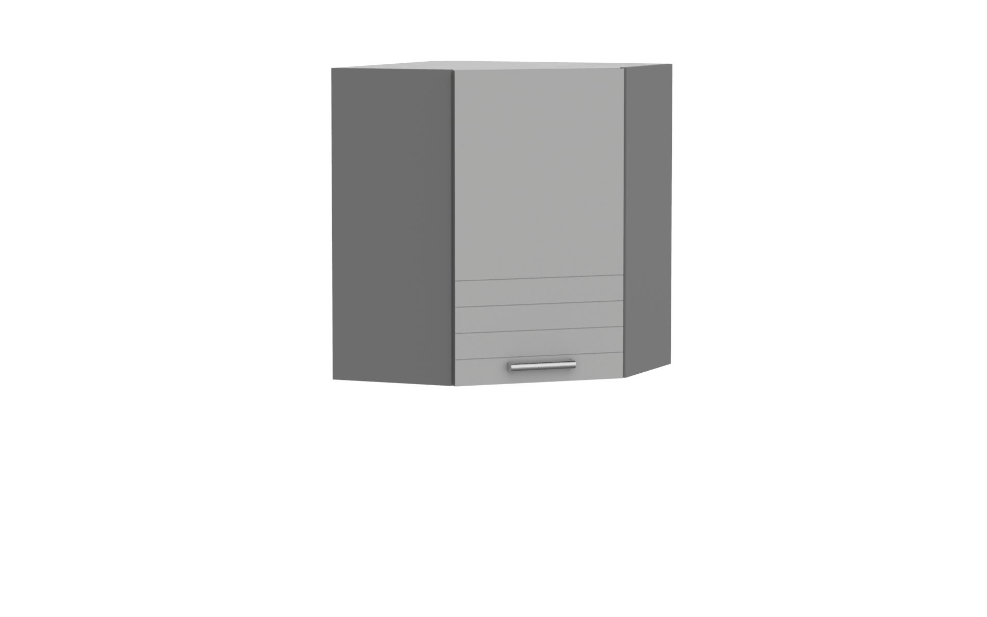 Eckoberschrank 60x60 cm / 72 cm Paula Grau