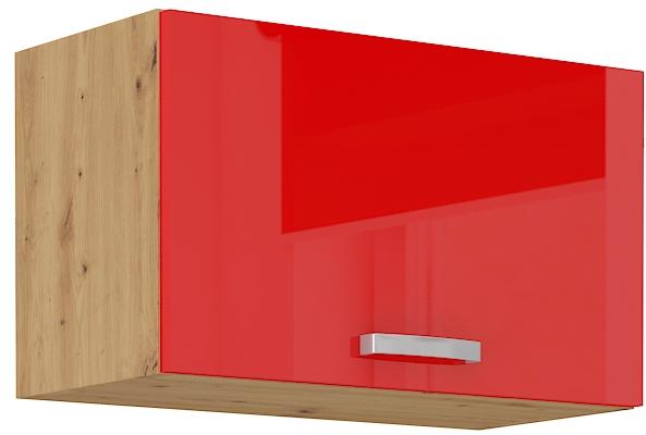 Oberschrank 60 cm / 36  cm mit Klapptür ARTISAN Rot HG