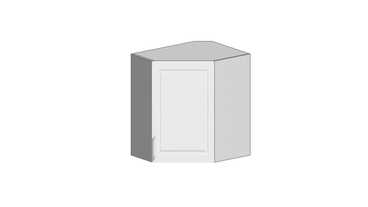 Eckoberschrank 60x60 cm / 72 cm Natalie Weiß