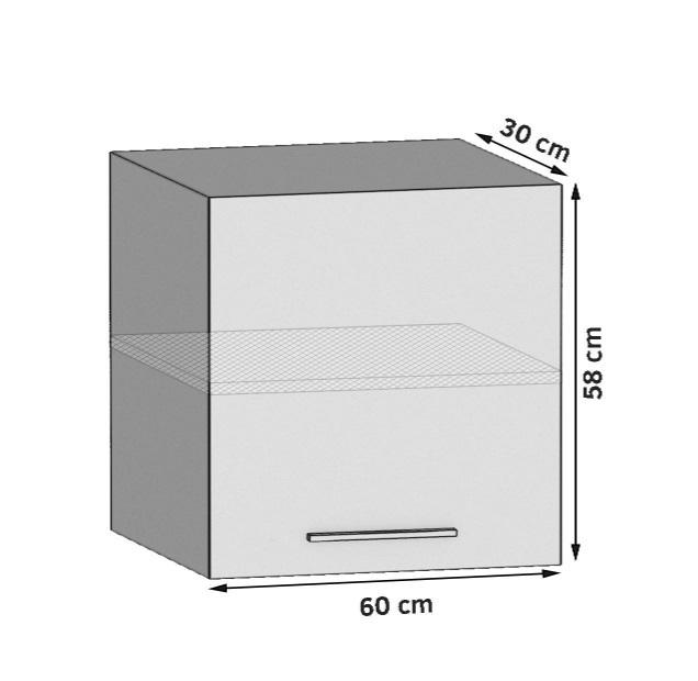 Oberschrank 60 cm mit 1 Tür