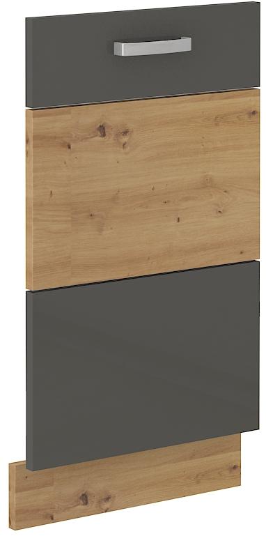 Geschirrspülerfront 45 cm Vollintegrierbar ARTISAN Grau HG