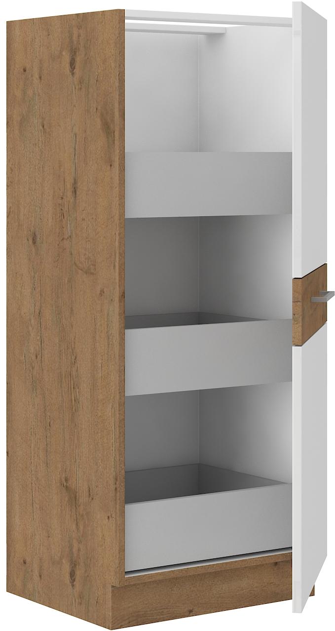 Hochschrank 50 cm / 145 cm mit Schubladen VIGO WEISS HG