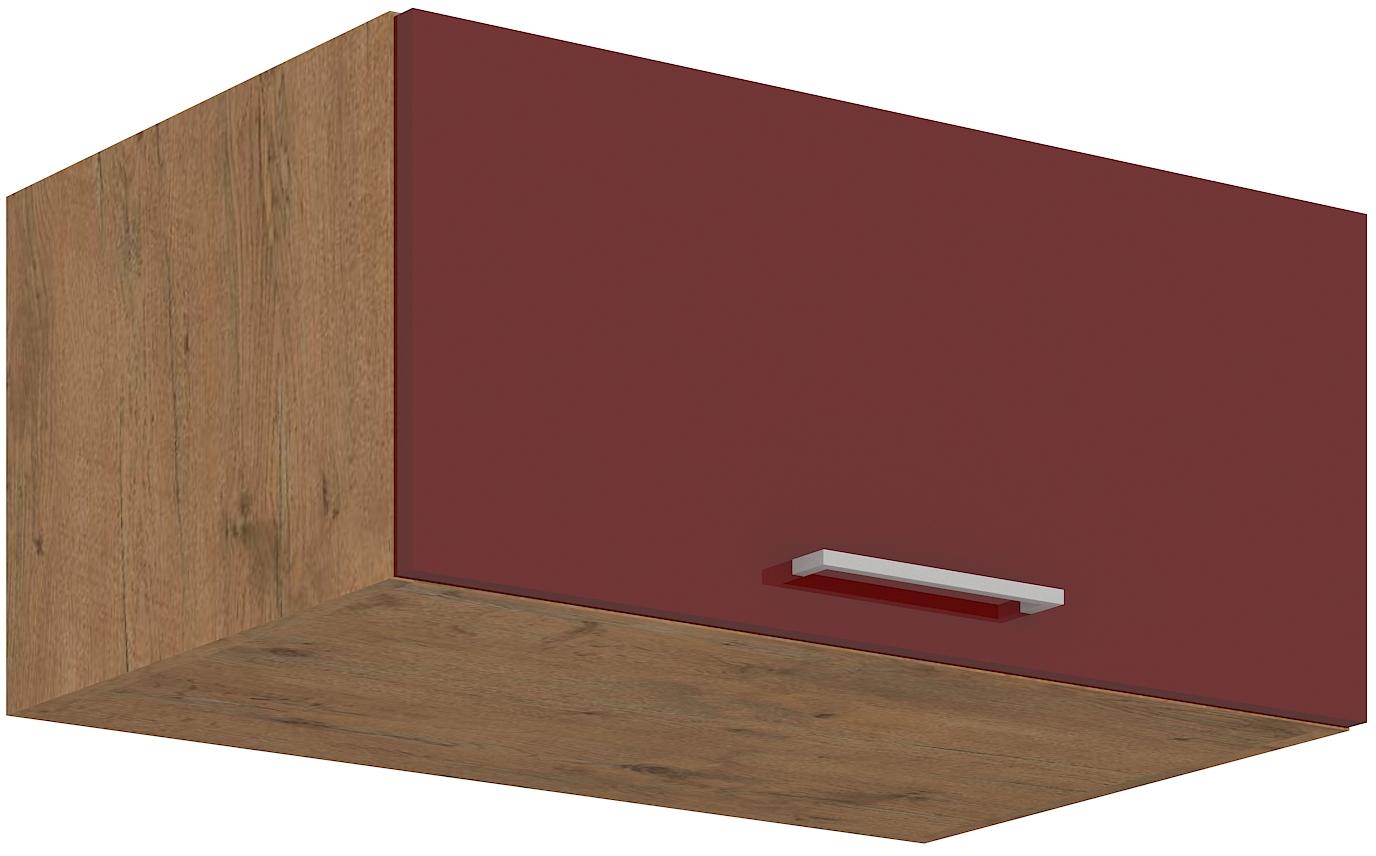 Aufsatzoberschrank 80 cm / 36  cm mit Klapptüre Vigo Weinrot HG