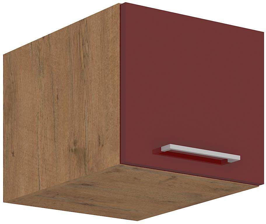Aufsatzoberschrank 40 cm / 36  cm mit Klapptüre Vigo Weinrot HG