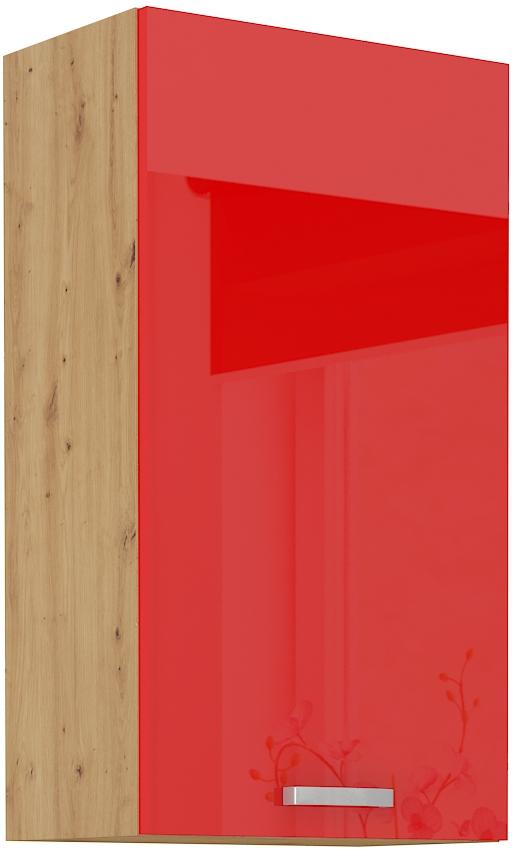 Oberschrank 50 cm / 90  cm ARTISAN Rot HG