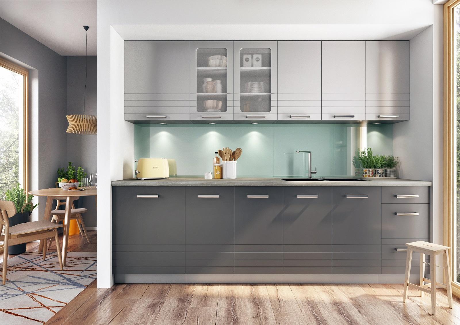 Küche Paula 260 cm grau