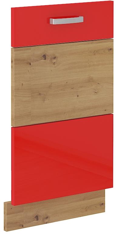 Geschirrspülerfront 45 cm Vollintegrierbar ARTISAN Rot HG
