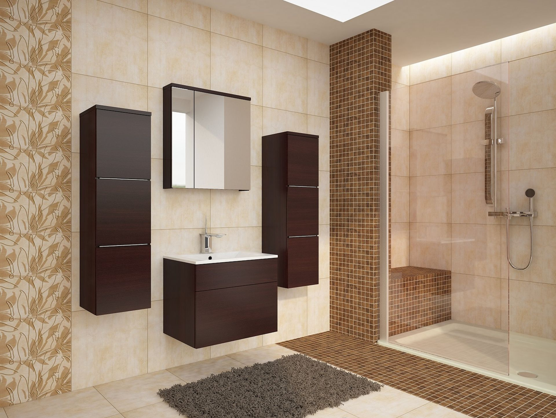 Badezimmermöbel Set Porta – Wenge