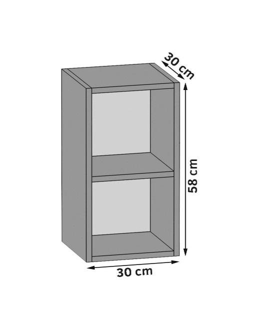 Oberschrank 30 cm / offen