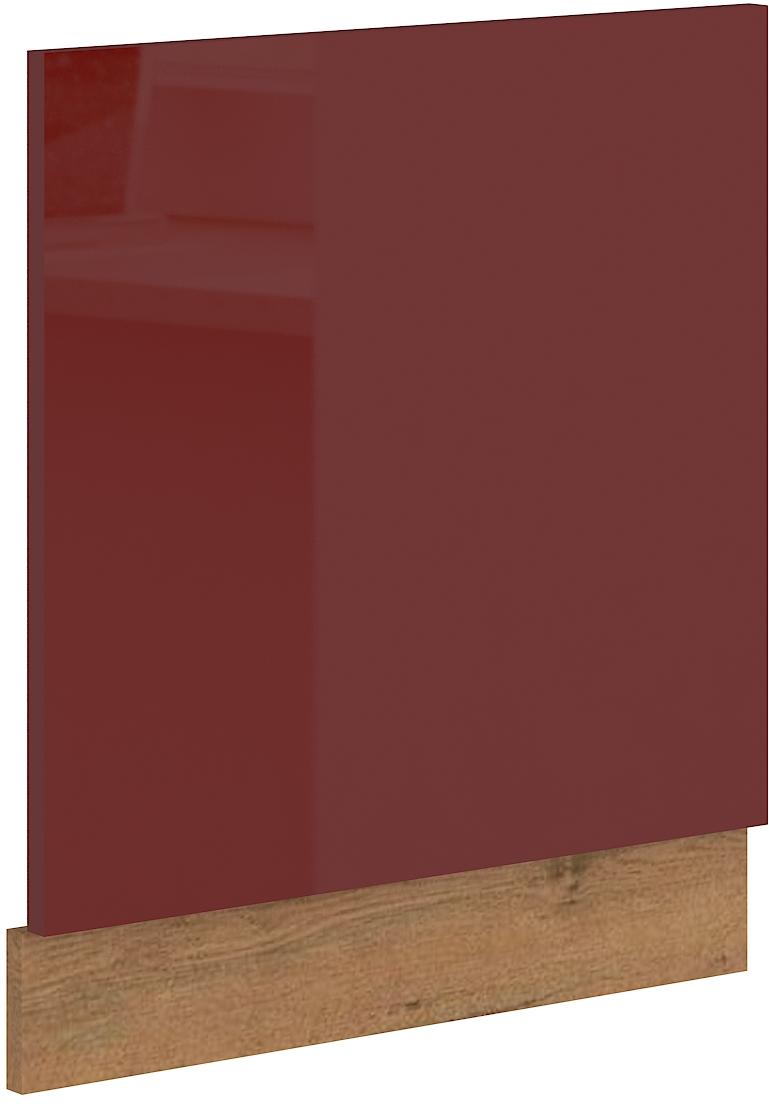 Geschirrspülerfront 60 cm Teilintegrierbar Vigo Weinrot HG