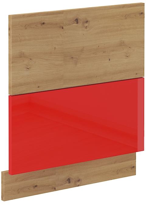 Geschirrspülerfront 60 cm Teilintegrierbar ARTISAN Rot HG