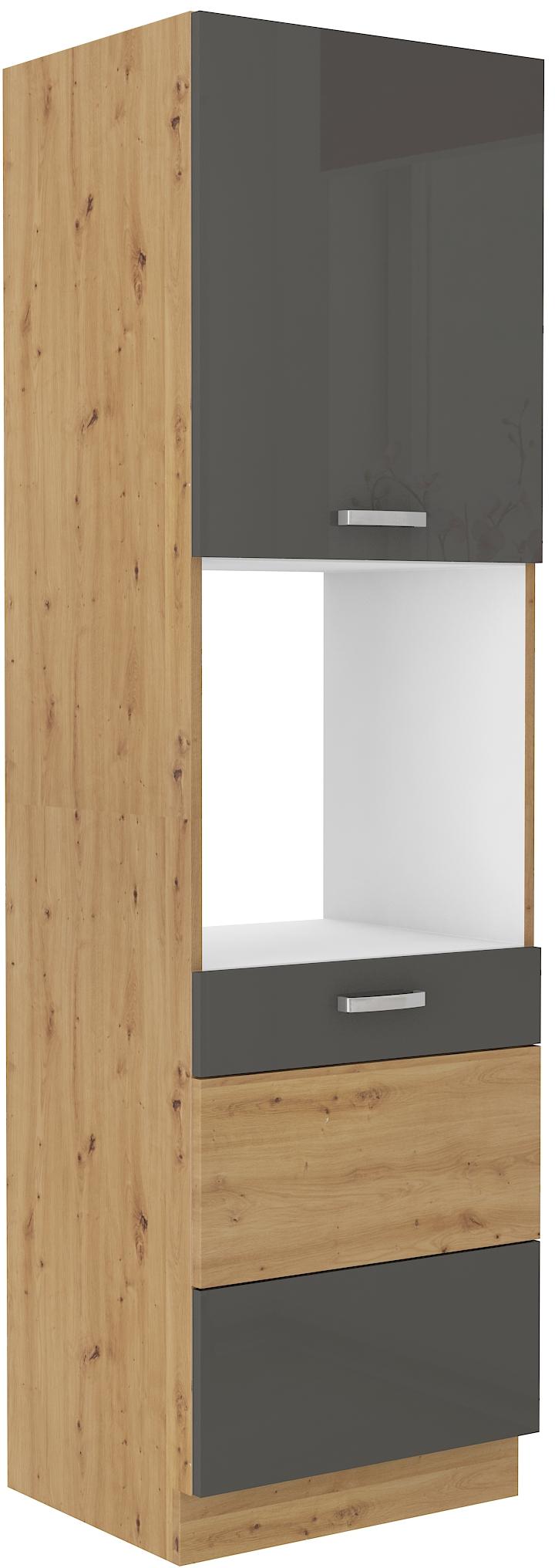 Backofenhochschrank 60 cm / 210 cm ARTISAN Grau HG
