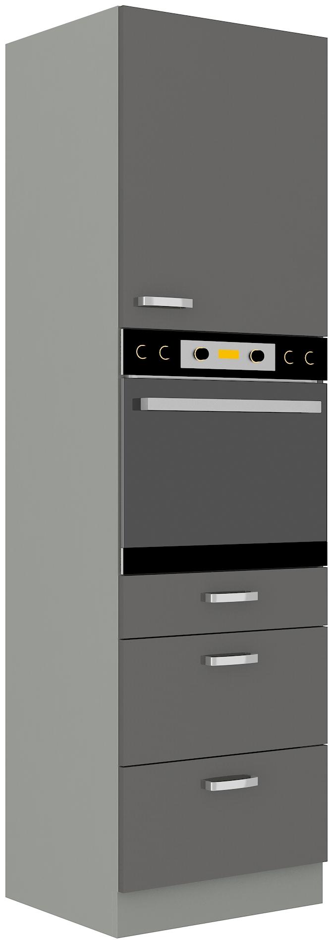 Backofenhochschrank 60 cm / 210 cm mit Schubladen Grey