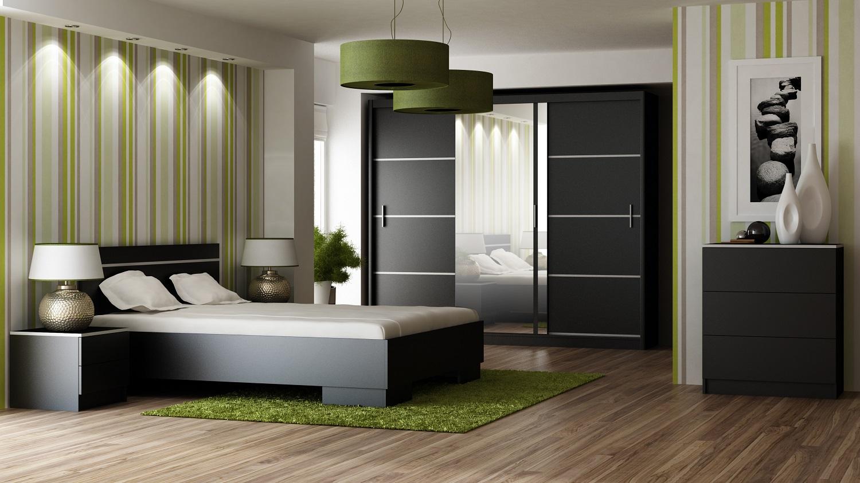 Schlafzimmer-Sets Vista Schwarz