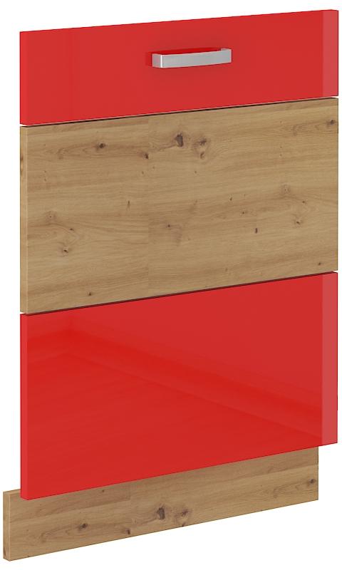 Geschirrspülerfront 60 cm Vollintegrierbar ARTISAN Rot HG