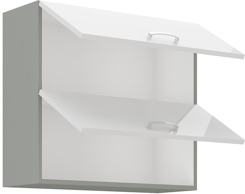Oberschrank 80 cm / 72  cm mit Klapptür Bianca