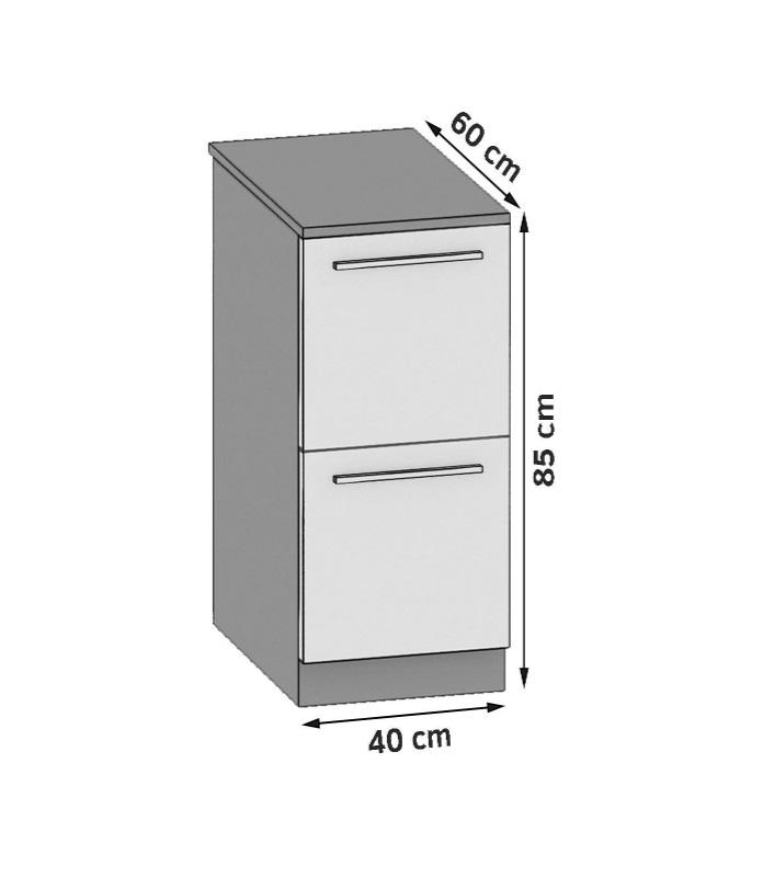 Unterschrank 40 cm mit 2 Türen