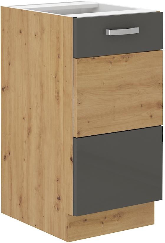 Unterschrank 40 cm ARTISAN Grau HG
