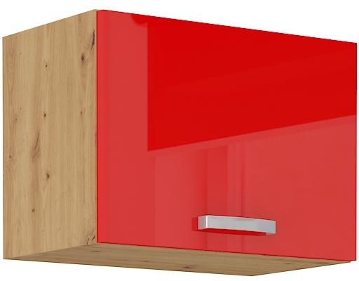 Oberschrank 50 cm / 36  cm mit Klapptür ARTISAN Rot HG