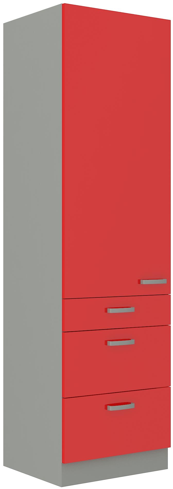 Hochschrank 60 cm / 210 cm mit Schubladen Rose