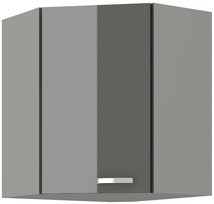 Eckoberschrank 60x60 cm / 72  cm Grey