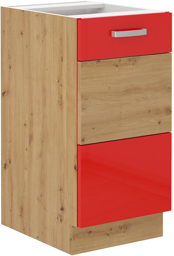 Unterschrank 40 cm ARTISAN Rot HG