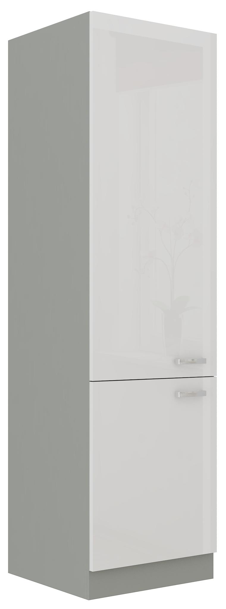 Kühlschrankumbauschrank 60 cm / 210 cm Bianca