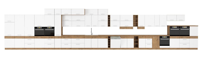 Küche Vigo Weiß Hochglanz 270 cm