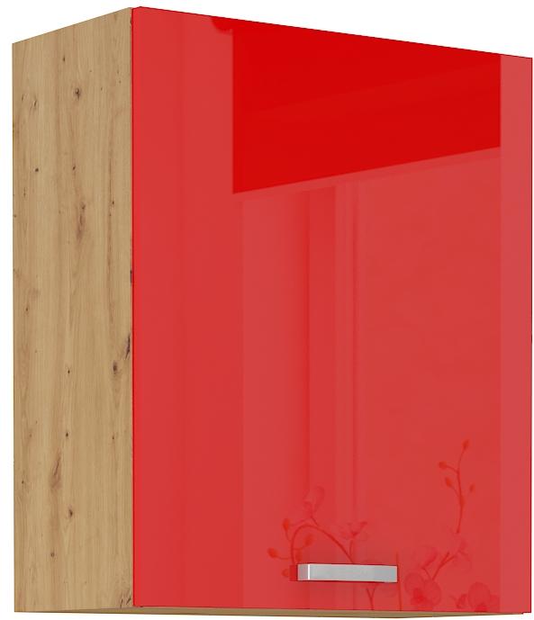 Oberschrank 60 cm / 72  cm ARTISAN Rot HG