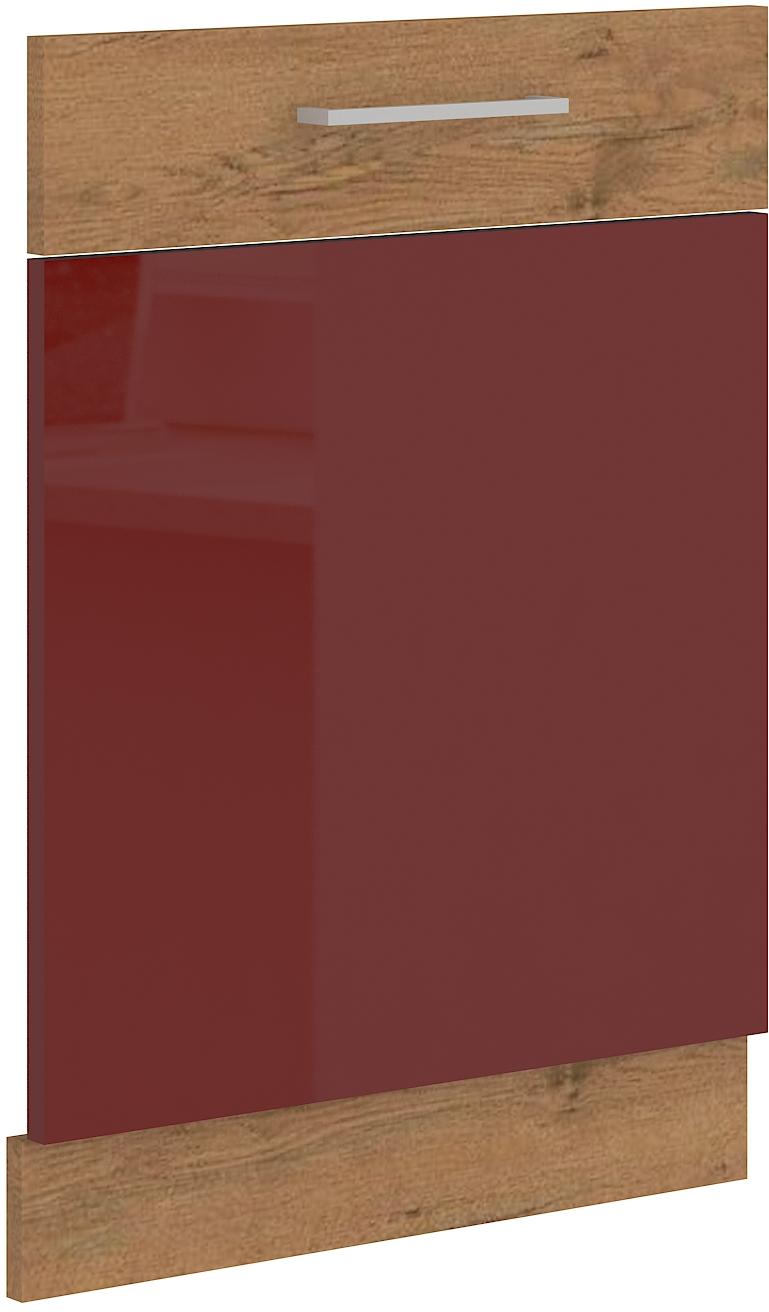 Geschirrspülerfront 60 cm Vollintegrierbar Vigo Weinrot HG