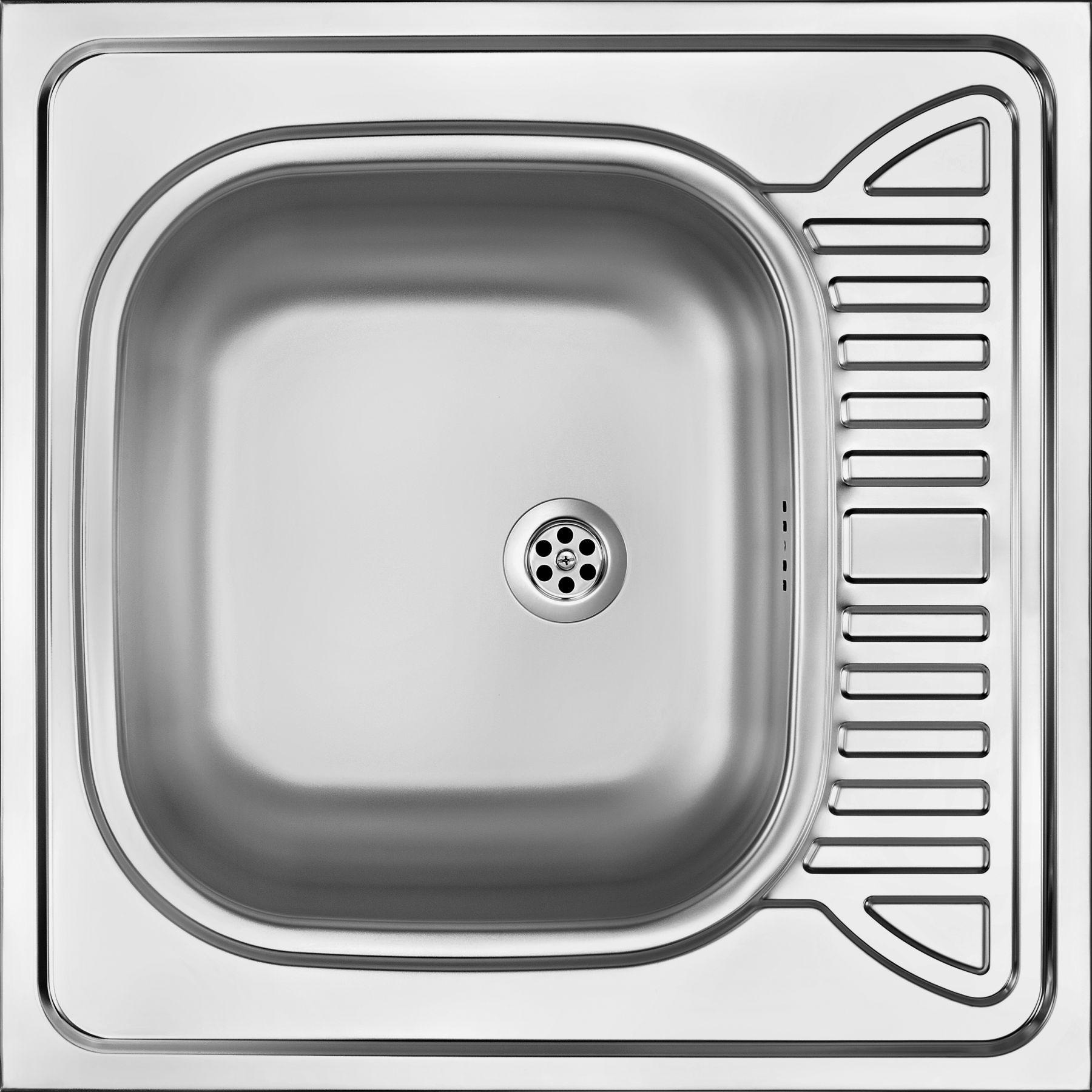 Edelstahlspüle 60x60 cm 1-Becken - Reversibel