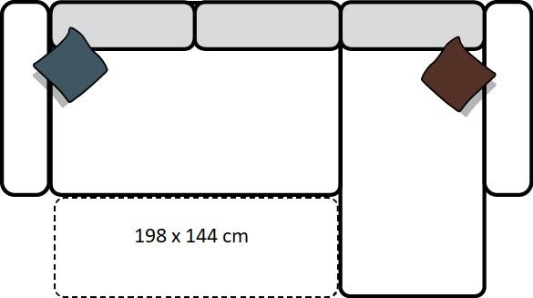 Wohnlandschaft Riminni mit Bettfunktion / rechte Schenkel