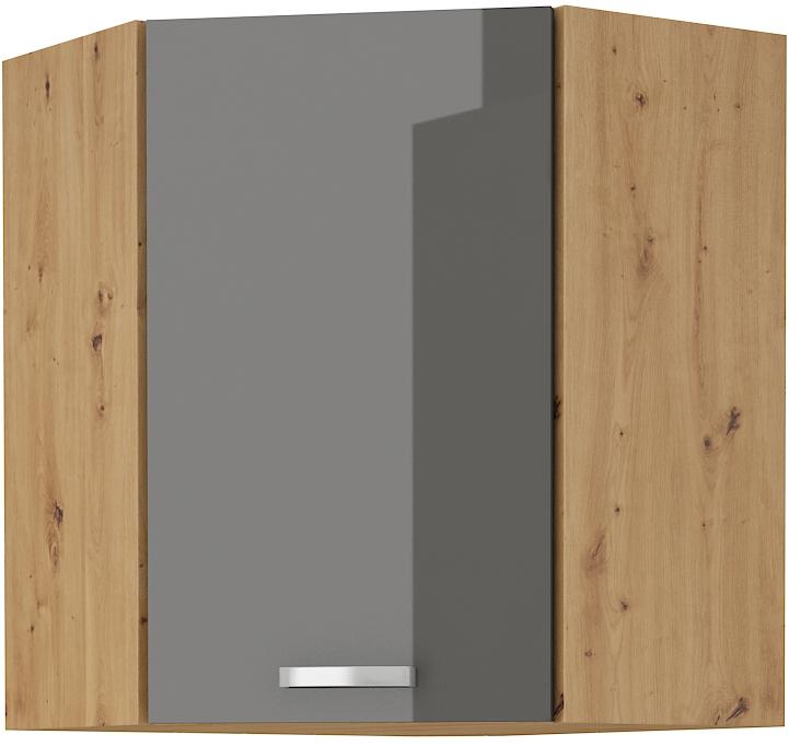 Eckoberschrank 60x60 cm / 90  cm ARTISAN Grau HG