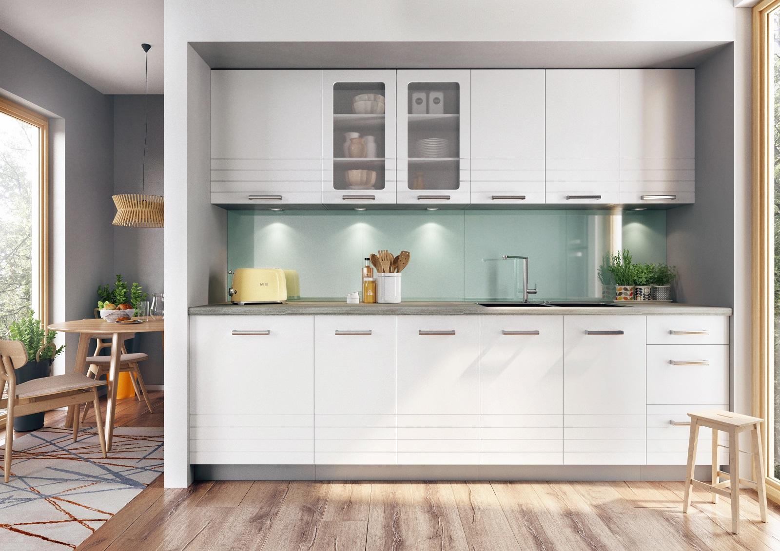 Küche Paula weiß 260 cm