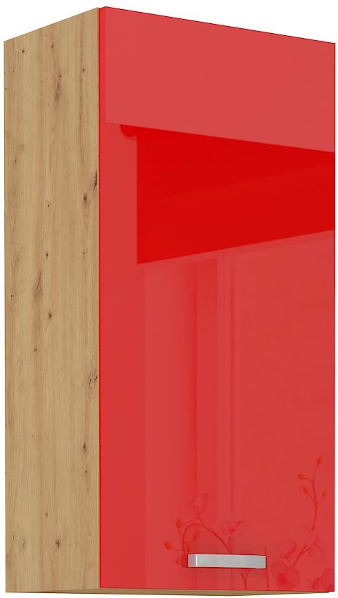Oberschrank 45 cm / 90  cm ARTISAN Rot HG