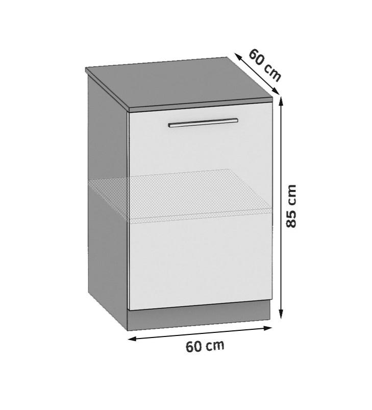 Unterschrank 60 cm mit 1 Tür