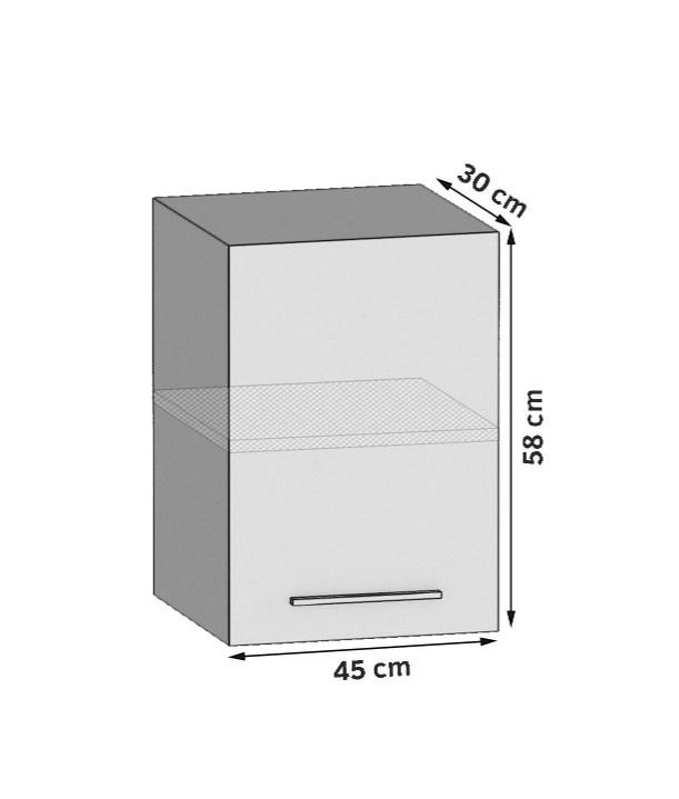 Oberschrank 45 cm mit 1 Tür